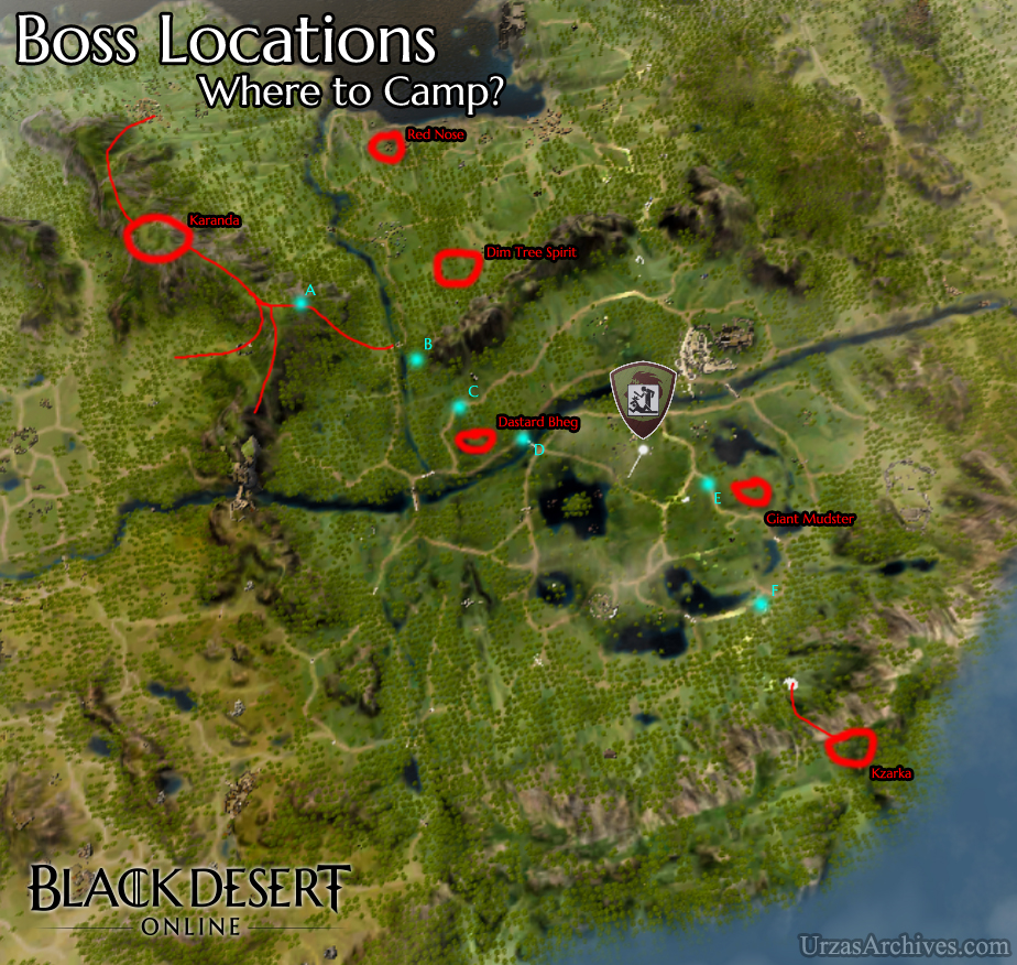 Black Desert Online World Boss Location